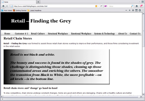 image of Retail- Finding the Grey website home page