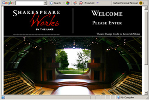Image of ShakespearsWorks website home page